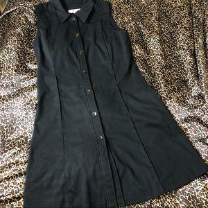 Trio New York Sleeveless Black Midi Dress